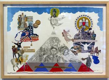 "Sarah Paulsen's ""Capitalism, Patriotism, Democracy!"" is part of ""Art is Labor."""