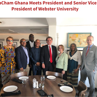 Webster leadership meets with American Chamber of Commerce Ghana.