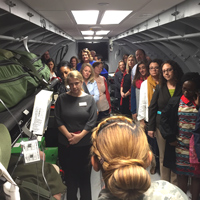 GLA fellows toured Scott Air Force Base in Illinois.