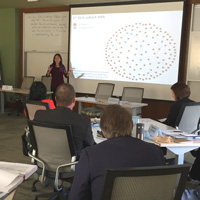 Preuss presented research into communication connections among GLA fellows.