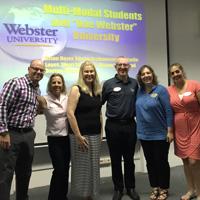 GLA team presenting on multi-modal students