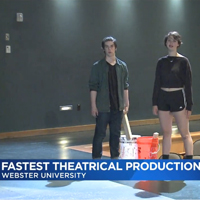 Students attempted to break the world record for fastest production