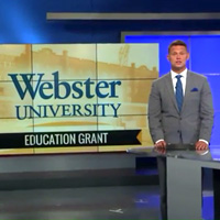Fox2 coverage of the $2.7 million grant for Webster University's School of Education.