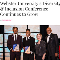 Webster leaders were featured in Gazelle discussing the annual diversity and inclusion conference.