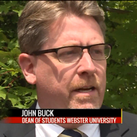 John Buck and Anna Dickherber were interviewed by Fox2 as part of a student move-in feature.