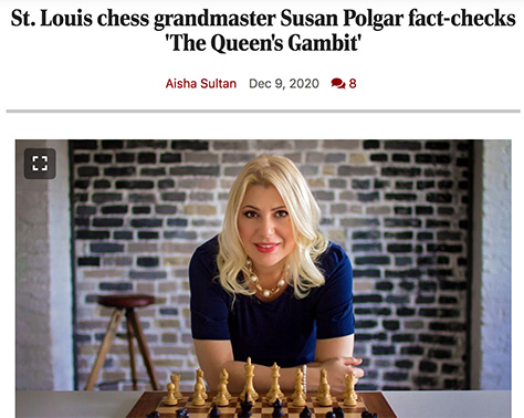 Susan Polgar in the Post-Dispatch