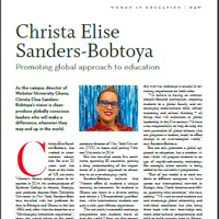 Christa Sanders in New African Woman magazine