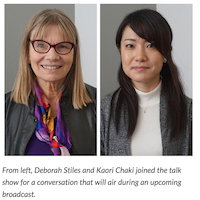 Debbie Stiles and Kaori Chaki discussed their research on