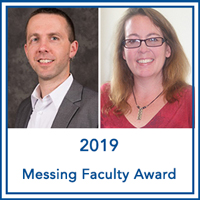 Ryan Gregg and Danielle MacCartney Receive 2019 Wilma Roswell Messing Jr. Faculty Award