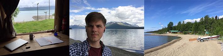 Composing on the shores of Lake Clark, Alaska