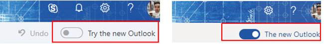 Outlook New and Old toggle