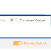 Toggle from Old and New Outlook views