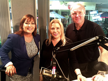 Susan Polgar in studio with Randi Naughton and Martin Kilcoyne of KTRS