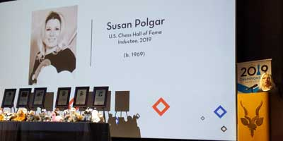 Susan Polgar is inducted into the US Chess Hall of Fame