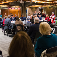 A panel of leaders discussed the arts' impact on St. Louis culture and business.