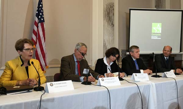 Stroble spoke on a panel with colleagues from higher ed, government and the corporate sector.