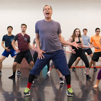 Lara Teeter, seen here teaching in the Muny Summer Intensive, is head of Musical Theatre at Webster.