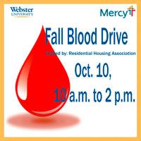 Fall Blood Drive Oct. 10