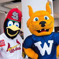 The Gorlok and Fredbird are longtime friends