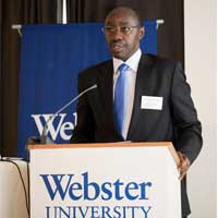 Dr Francois Xavier Ngarambe Ambassador of Rwanda to Switzerland and the United Nations