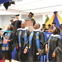 Commencement at Webster's campus in Accra, Ghana