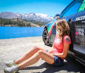 Carolina Bianchi takes a break in Yosemite National park during the global trip