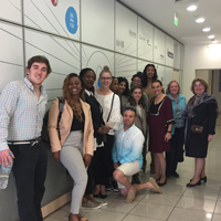 Students visit a business incubator