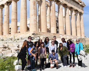 Students visit Greece's ancient sites