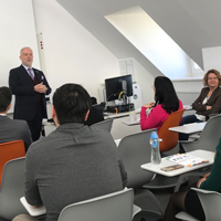 Webster Vienna Students Network with the Delegation of the EU to the International Organizations in Vienna