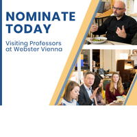 Visiting Professors at Webster Vienna – Nominate Today!