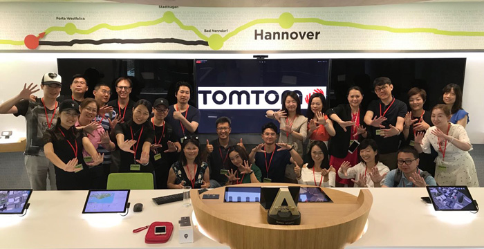 Webster China MBA at Tom Tom headquarters
