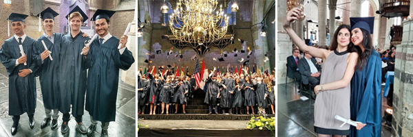 Commencement in the Netherlands at the historic Pieterskir