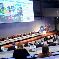 Webster's 21st International Humanitarian Conference drew 350 participants. [Photo by Oliver O'Hanlon]
