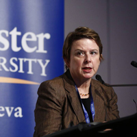 Ellen Hansen, senior policy advisor to the Assistant High Commissioner for Protection, UNHCR. [Photo: Oliver O'Hanlon]