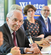 Italian Supreme Court Justice Giuliano Amato visited the Geneva campus for a panel on international careers.
