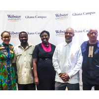 Webster Ghana hosted a talk by faculty members Jean-Germain Gros and Vladimir Antwi-Danso.