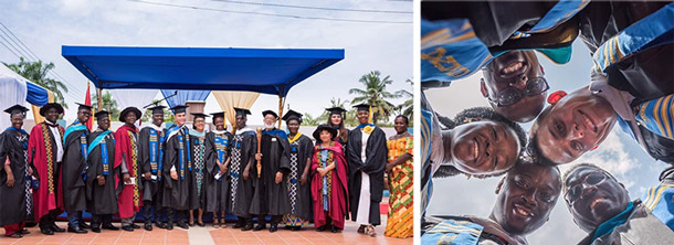 Commencement at Webster Ghana
