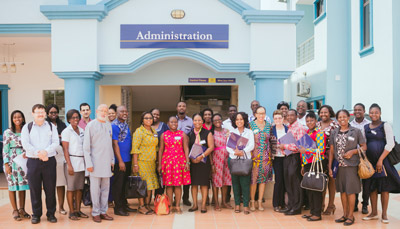 The workshop with over 20 counselors from across Ghana touched on challenges they face in guiding high school students' decisions on the next step in their education.