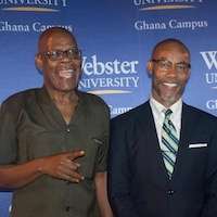 Kwame Boafo-Arthur, Faculty, University of Ghana, Legon (Left) with Professor Jean-Germain Gros