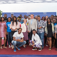 Webster leaders visited the campus in Accra, Ghana in November.