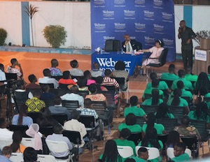 Audience at Ghana lecture on post-independent Africa