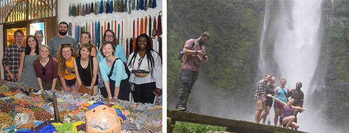 Study abroad students at Webster Ghana in the West African Experience program