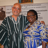 Michael Williams, Webster Ghana academic director, and advisory board member and professor Audrey Gadzekpo.