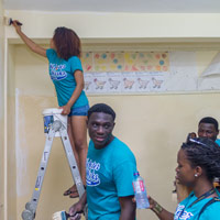 Webster Ghana Service Project Helps Special School in Accra