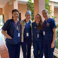 Four nurse anesthesia students visited Guatemala in February to volunteer at a medical clinic
