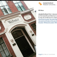 Webster Student in Leiden Takes Over @StudyInHolland on Instagram