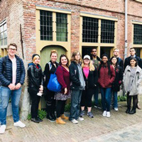 The students observed and assisted teachers and taught English skills in one local school for seven weeks, while also visiting other schools and taking a seminar on Dutch culture and pedagogy.