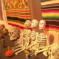 Samples of handicrafts and popular art from Mexico