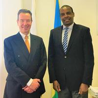 Snapshot: Webster Director Discusses International Human Rights with Rwandan Ambassador