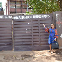 Ghana Director Visits Oldest School in W. Africa on Regional Tour